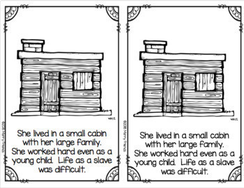 Harriet Tubman Booklet for Young Readers - Emergent Reader Black History