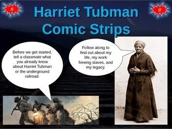 Harriet Tubman Bundle - Map Activity, Comic Strip Activity