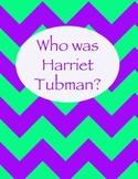 Harriet Tubman Chevron Binder Cover