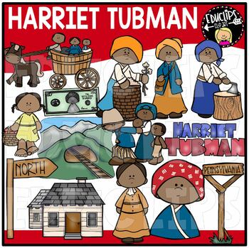 Harriet Tubman Clip Art Bundle {Educlips Clipart}