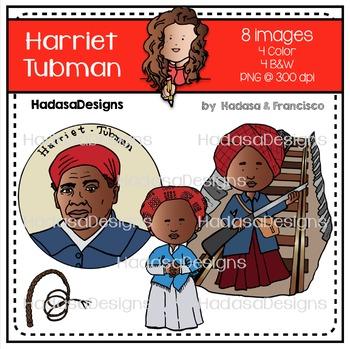 Harriet Tubman Clip Art Mini Combo Pack