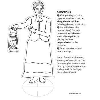 Harriet Tubman Clipart and Paper Dolls