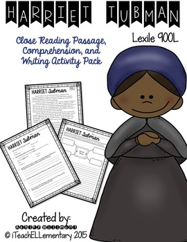 Harriet Tubman CLOSE READ ***FREE***