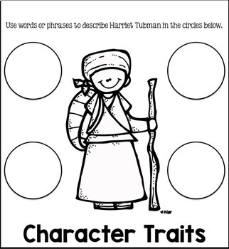 Harriet Tubman Close Reading Flip Flap