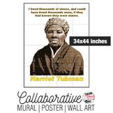 Harriet Tubman Collaborative Mural   Poster   Huge Wall Art