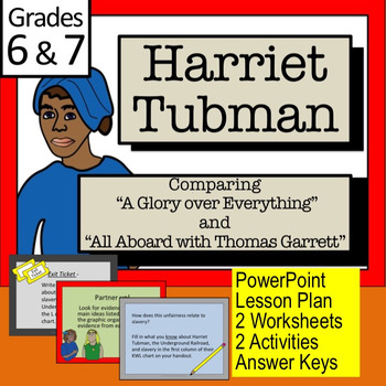 "HARRIET TUBMAN: Comparing ""A Glory Over Everything"" with """