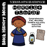 Harriet Tubman Comprehension and Activities: Black History Month