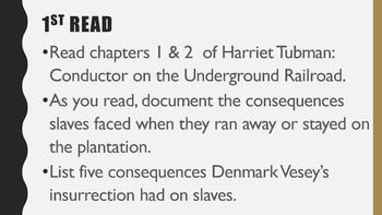Harriet Tubman: Conductor on the Underground Railroad - Chapters 1 - 2 Lesson