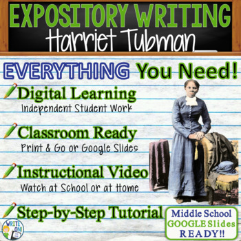 Harriet Tubman: Conductor Underground Railroad Text Evidence Expository Writing