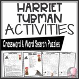 Harriet Tubman Crossword and Word Search Find Activities