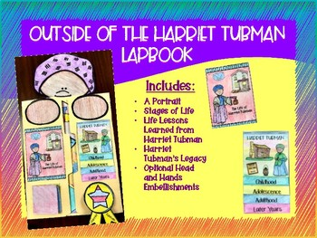 Harriet Tubman Lapbook and Differentiated Biography Texts