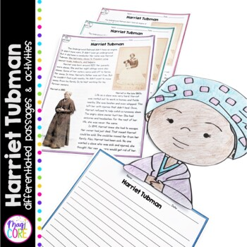 Harriet Tubman Differentiated Reading and Writing Activities