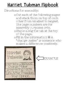 Harriet Tubman Flip Book