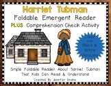 Harriet Tubman Foldable Emergent Reader ~Color & B&W~ PLUS Printable