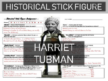 Harriet Tubman Historical Stick Figure (Mini-biography)