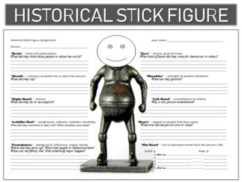Harriet Tubman Historical Stick Figure (Mini-biography)