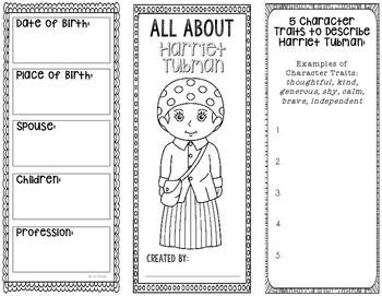 Harriet Tubman Writing Activity - TeacherVision