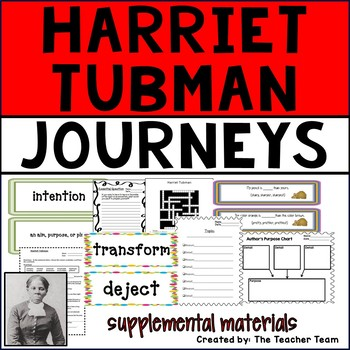 Harriet Tubman Journeys 6th Grade Unit 5 Lesson 24 Activities and Printables
