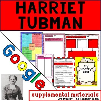 Harriet Tubman Journeys 6th Grade Unit 5 Lesson 24 Google Drive Resource