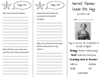 Harriet Tubman Leads the Way Trifold - 5th Grade Literacy by Design Theme 5