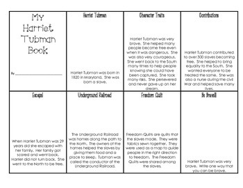 image regarding Harriet Tubman Printable Worksheets identify Harriet Tubman Mini E-book