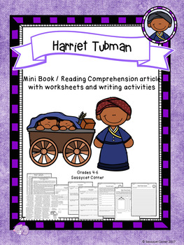 Harriet Tubman Mini Book Foldable and Comprehension Packet