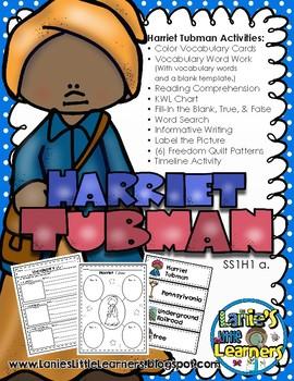 Harriet Tubman {No-Prep Printables}
