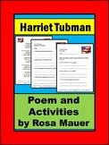 Harriet Tubman Poem and Comprehension Packet
