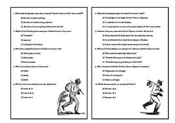 Harriet Tubman Poem with STAAR questions