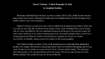 Harriet Tubman PowerPoint