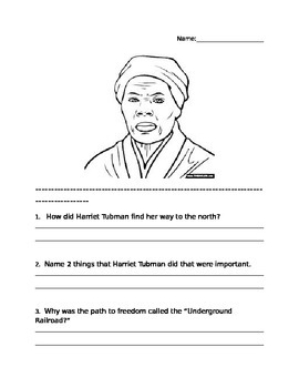 Harriet Tubman Questions