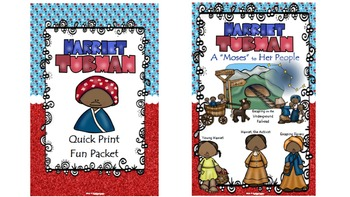 Harriet Tubman Quick Print Poster, Pennant/Banner, All About Harriet - PDF Ed.