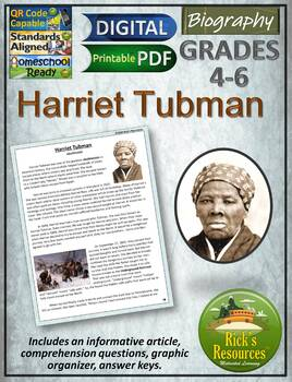 Harriet Tubman Reading Comprehension