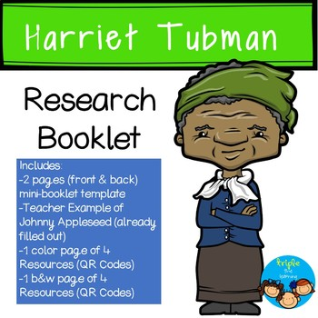 Harriet Tubman-Historical Figure Research Booklet