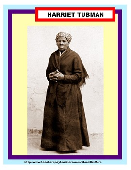 Harriet Tubman Research / Note-taking Trade Book Center / Interactive Notebook