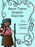 Harriet Tubman: Research Questions for a Timeline