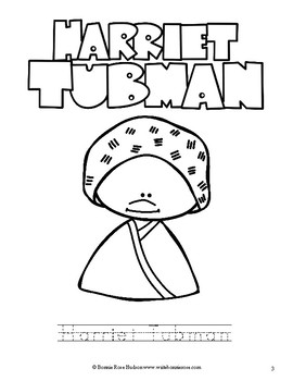 Harriet Tubman & Rosa Parks Coloring Book—Level A by WriteBonnieRose