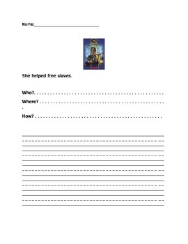 Harriet Tubman Sentence Activity(works well with scholastic weekly reader)