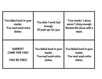 Harriet Tubman Slavery Game