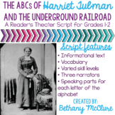 Harriet Tubman Underground Railroad Readers Theater Script