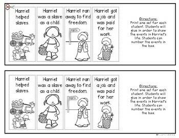 Harriet Tubman Timeline for {Kindergarten and First Grade} Social Studies