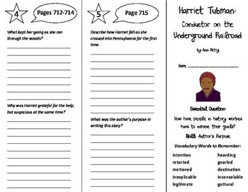 Harriet Tubman Trifold - Journeys 6th Grade Unit 5 Week 4