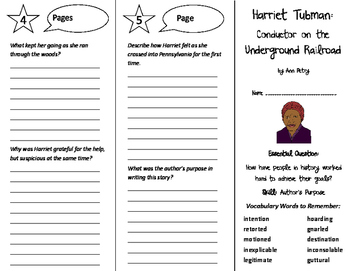 Harriet Tubman Trifold - Journeys 6th Grade Unit 5 Week 4