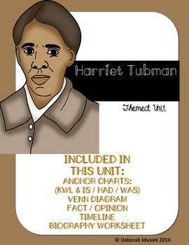 Harriet Tubman Unit by Debbie Musiek | Teachers Pay Teachers