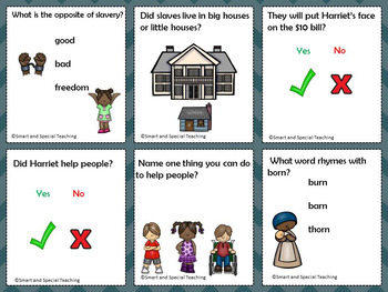 Black History Activities Unit for Speech Therapy & ESL Students (Harriet Tubman)