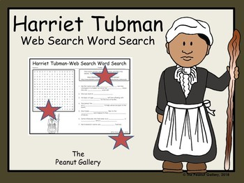 Harriet Tubman- Web Search Word Search Puzzle