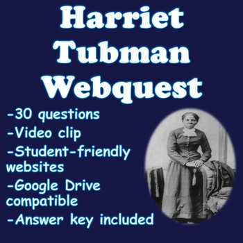 Harriet Tubman Webquest | Distance Learning
