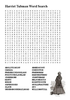 Harriet Tubman Word Search