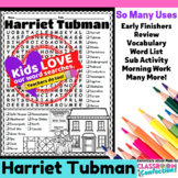 Harriet Tubman: Word Search Activity: Perfect for Black Hi