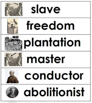 Harriet Tubman Word Wall Variations